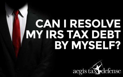 Can I Resolve My IRS Tax Debit By Myself?